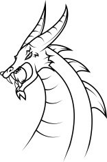 Line-art dragon