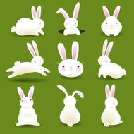 Bunnies on Grass EPS8