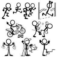 Stick Figure People Victory