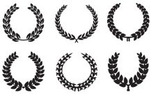 Black Laurel Wreath