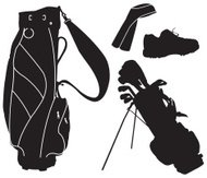 Golf Bags and Shoe
