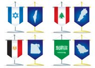 pennants of Middle EAST