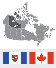 Northwest Territories, Canada Map and Flag