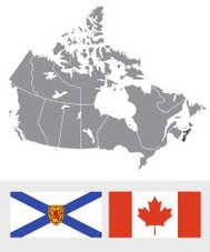 Nova Scotia, Canada Map and Flag