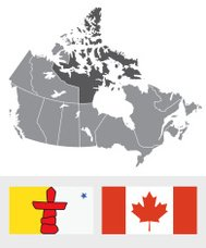 Nunavut, Canada Map and Flag