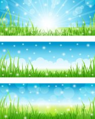 Summer Abstract Backgrounds. Vector illustration.