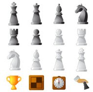 Chess Game Icon Set