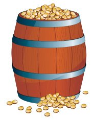 barrel of money - The cartoon toolbox series