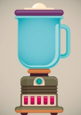 Illustration of retro blender.
