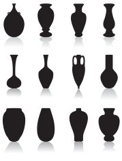 silhouettes of vases