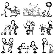Stick Figure People Family Life