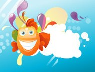 Abstract fish background