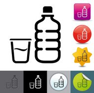 Water bottle icon | solicosi series