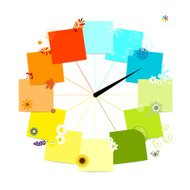 Four seasons concept. Design of clock