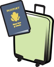 Travel: Suitcase and Passport
