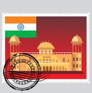 Vector India Stamp