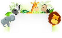 Cartoon jungle animals letterhead