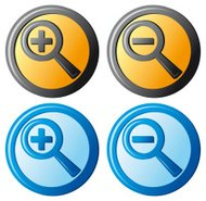 'zoom icons, magnifier button'