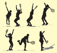 Tennis Serve - Female