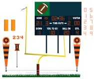 Football Stadium Equipment - Scoreboard, Goal Post