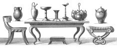 Ancient Greek Furniture   Antique Style and Design Illustrations