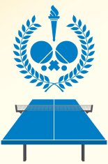 Table tennis emblem