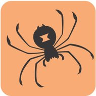 Creative Black Widow Spider Icon