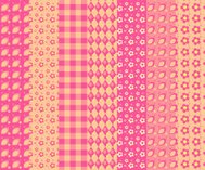 Set of simple seamless pattern 4