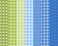 Set of simple seamless pattern 6