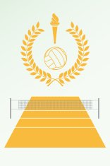 Volley poster and emblem