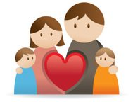 Family Icon with love heart