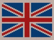Knitted Pattern of United Kingdom Flag