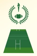Rugby poster and emblem