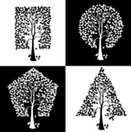 Trees of different geometric shapes