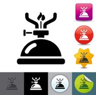 Camping gas stove icon | solicosi series