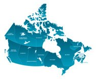Map of Canada: Labelled
