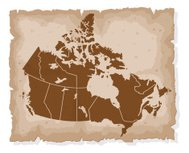 Old Fashioned Map: Canada