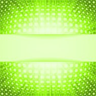 Technology squares with green flare burst. EPS 8
