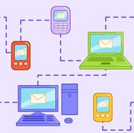 Seamless pattern with different electronic devices