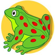garden frog cartoon