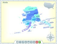 Alaska Map with Counties and Activities & Community Assistance I