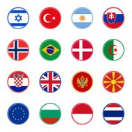 world flag icons 3 - sticky series