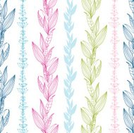Floral Stripes Seamless Pattern Background