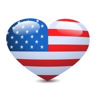 USA Loveheart Icon