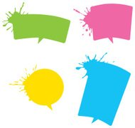 splash speech bubbles