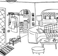 Illustration of a room / apartment