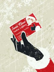 Father Christmas Presenting His Business Card