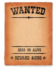 Wild West Wanted Sign royalty free vector Background