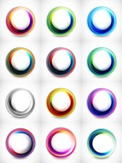 Colorful vector circles