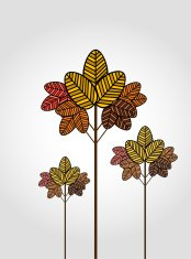 branch and leaf background vector